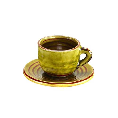 Taza y plato Café Espiral