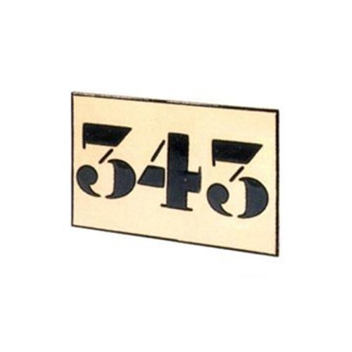 Número cerámico 3 cifras