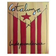 Placa Catalunya estelada