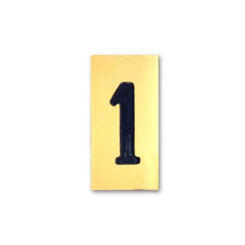 Número cerámico 1 cifra