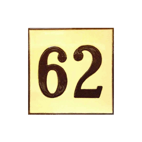 Número cerámico 15x15