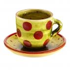 Taza y plato Té Puntos