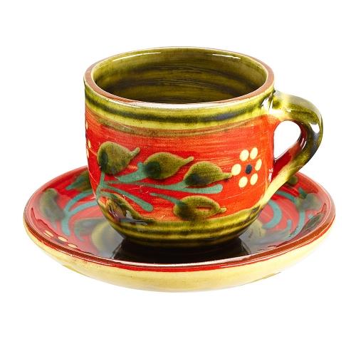 Taza y plato Té Floral