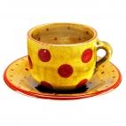 Taza y plato Desayuno Puntos