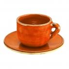Taza y plato Café Liso